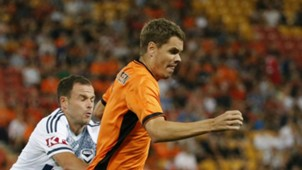 Thomas Kristensen Brisbane Roar v Melbourne Victory A-League 25032017