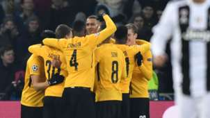 Young Boys celebrate vs Juventus
