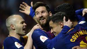 Coutinho Messi Iniesta Sevilla Barcelona 21042018 Copa del Rey final