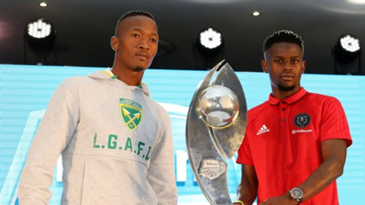 Matome Mathiane of Golden Arrows with Innocent Maela of Orlando Pirates