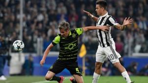 Paulo Dybala Coentrao Juventus Sporting Lisbon UEFA Champions League 18102017