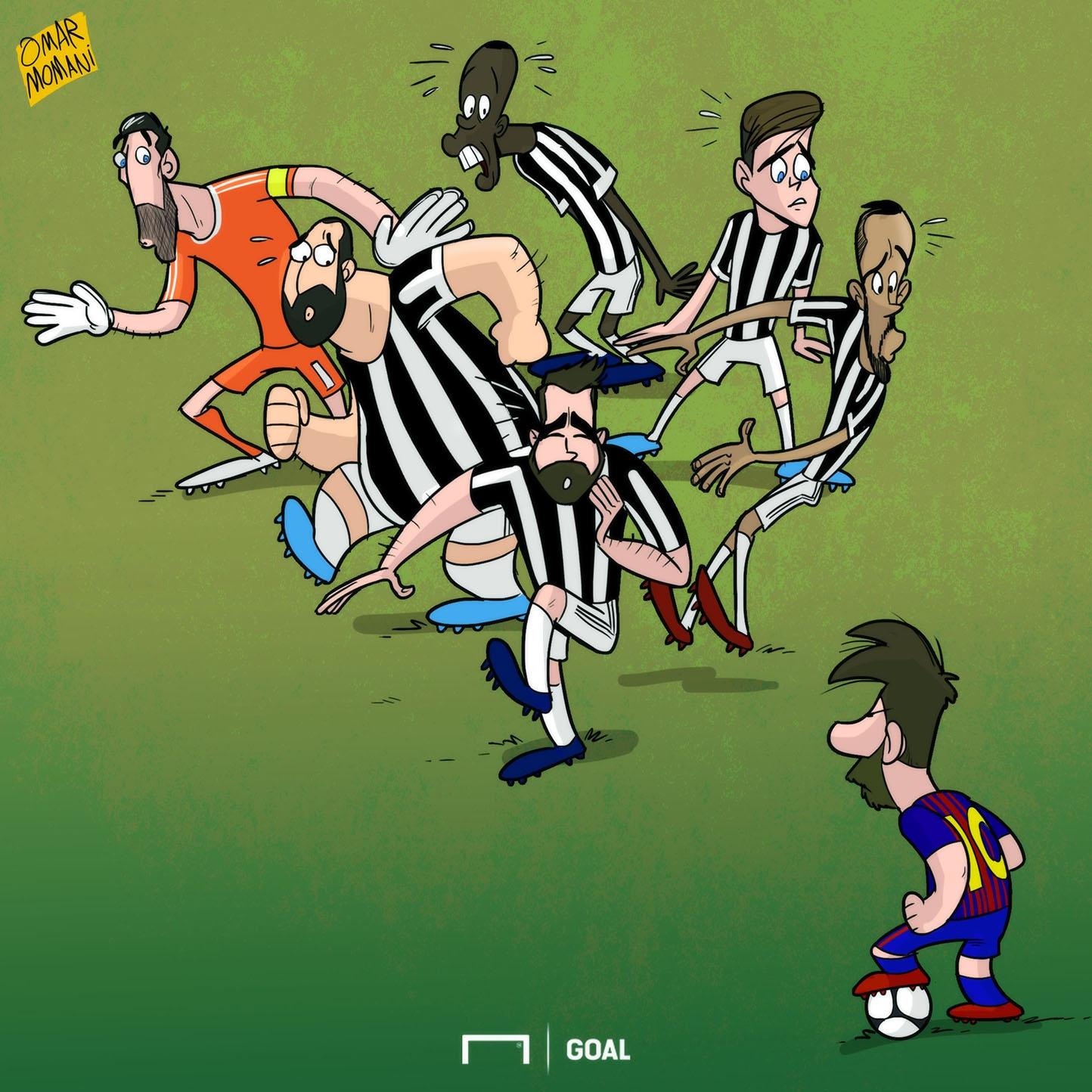 Kartun Goal Internasional 2017 - Lionel Messi Vs Juventus