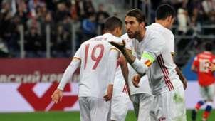 Sergio Ramos Spain Russia Friendly