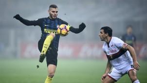 Mauro Icardi Nicolas Burdisso Inter Genoa