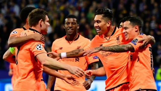 James Milner Roberto Firmino Philippe Coutinho Liverpool Maribor