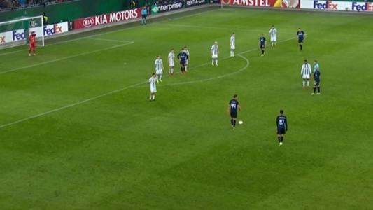 Inter Mailand mit Freistoß-Fail gegen Rapid Wien