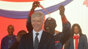 Arsene Wenger, George Weah - Liberia national award