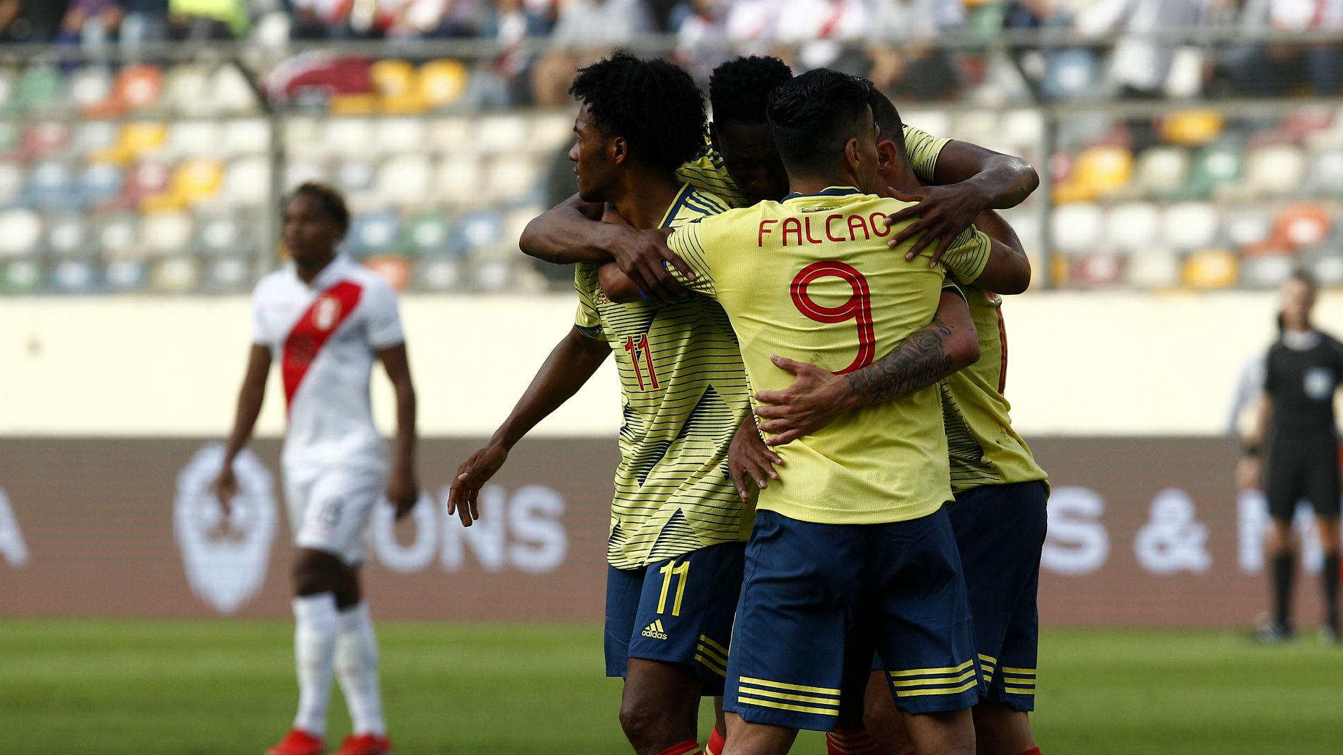 Colombia gol - Perú Amistoso 2019