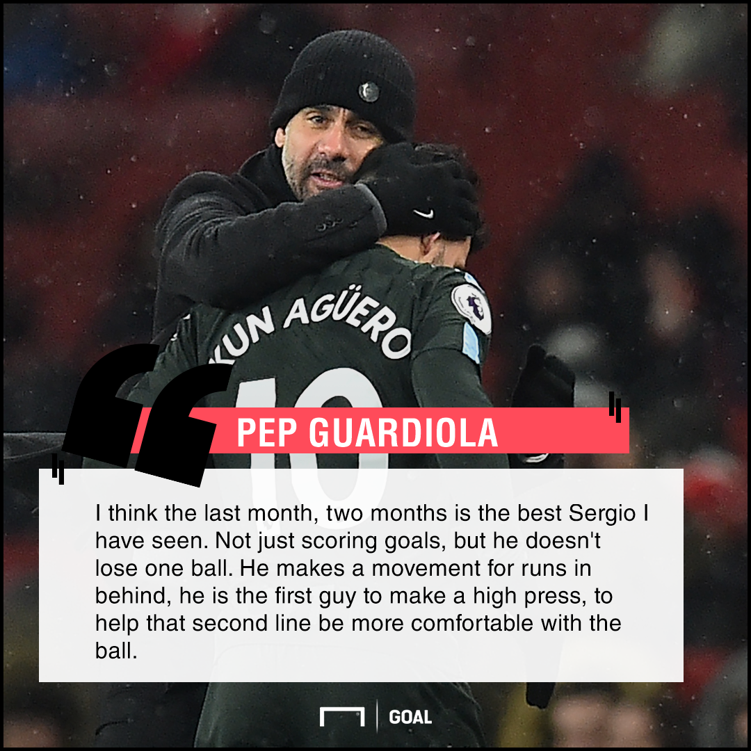 Guardiola quote Aguero