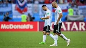 Lionel Messi Mascherano Argentina France Francia World Cup  2018 30062018
