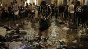 Juventus fans in Turin