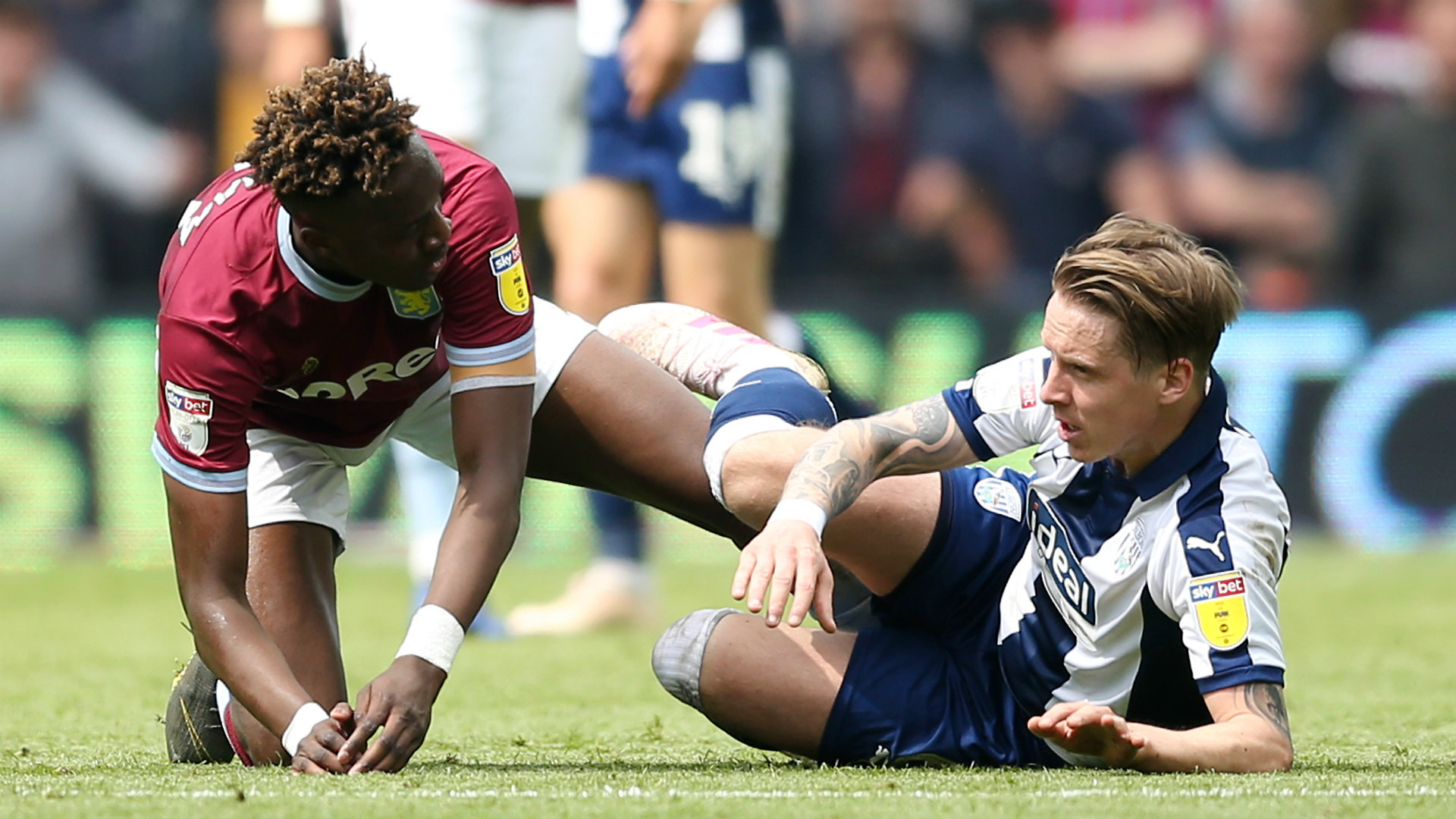 Championship play-offs: Aston Villa pip West Brom to final spot