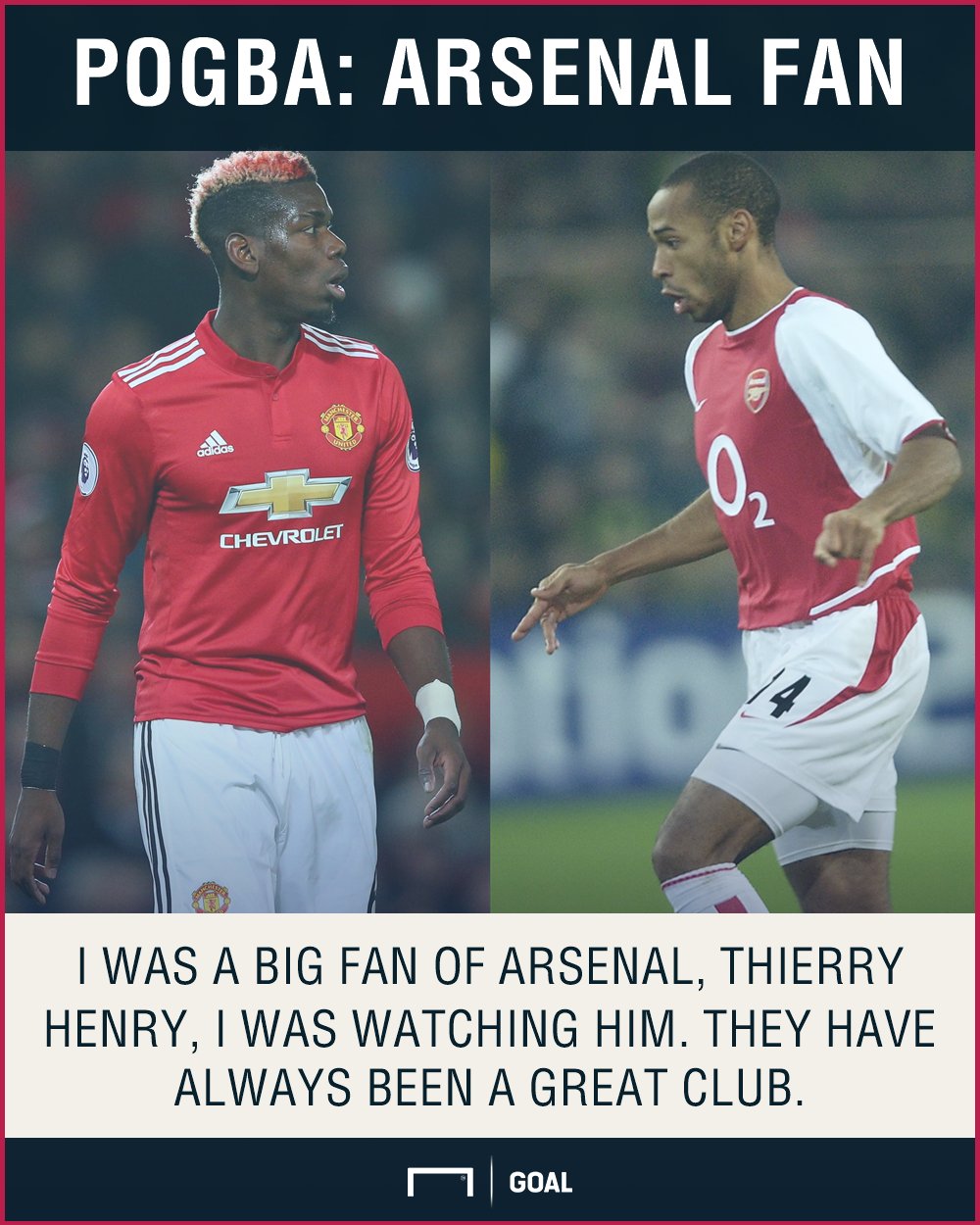 Paul Pogba Arsenal Thierry Henry fan