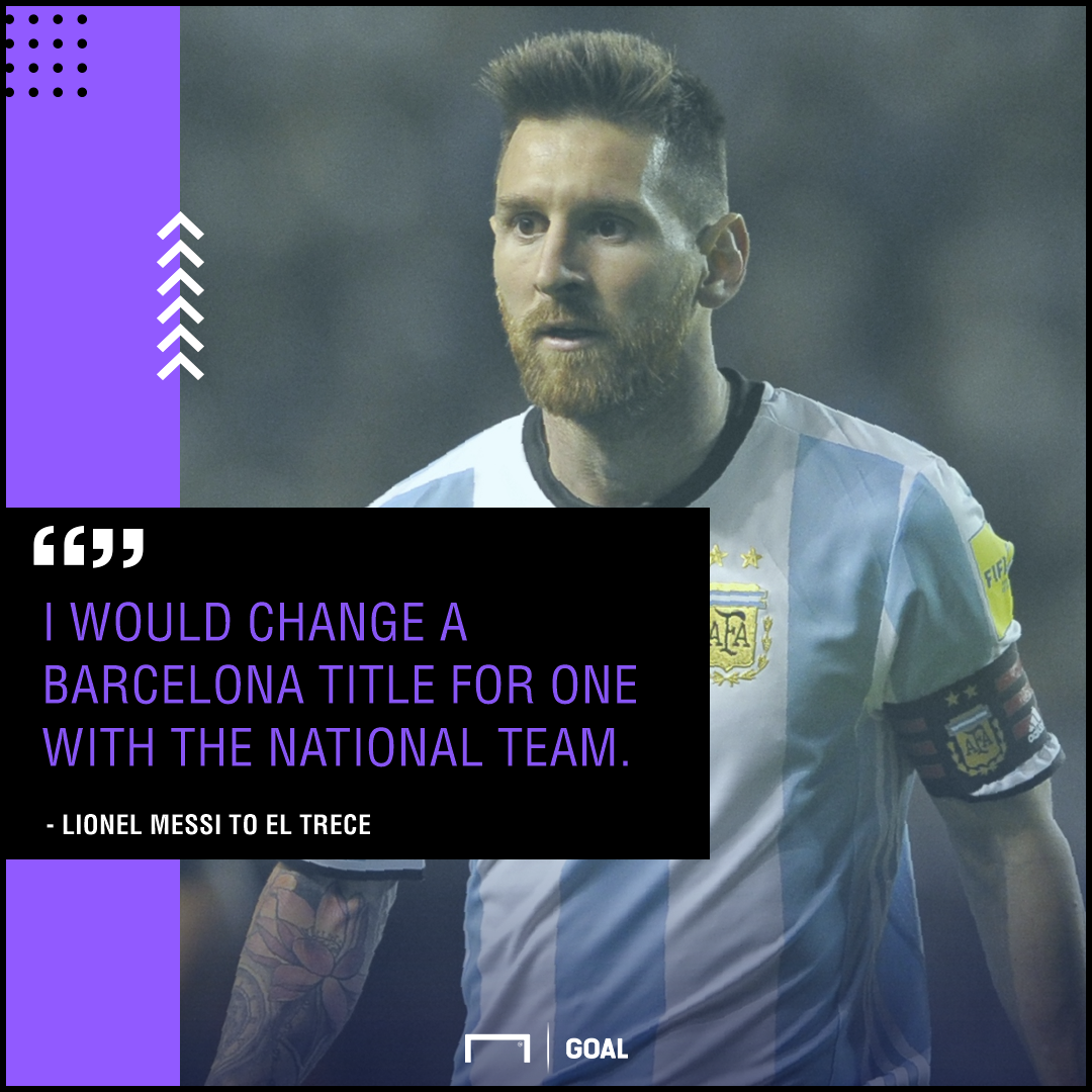 Lionel Messi swap Barcelona title for Argentina win