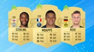Ratings Refresh FIFA 19 Sterling Mbappe Reus
