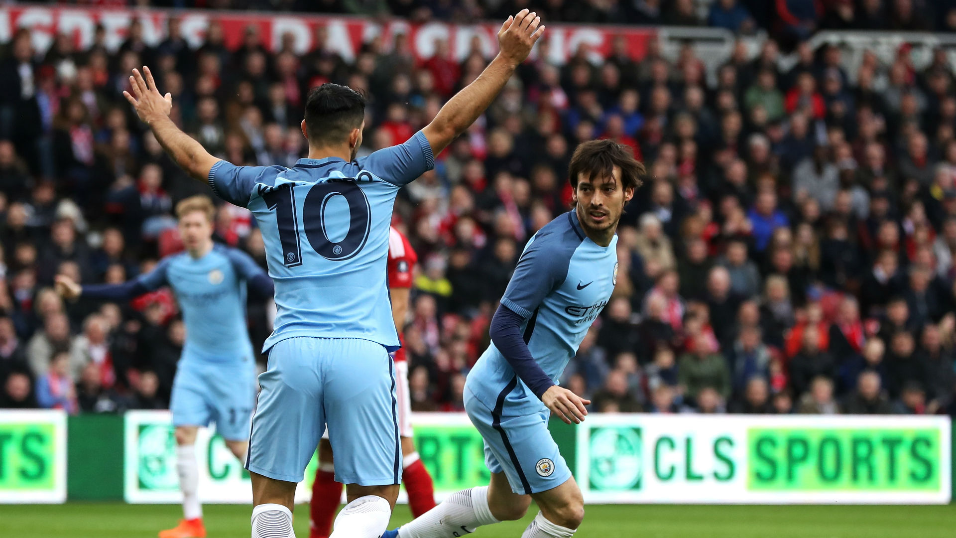 David Silva FA Cup Middlesbrough v Man City