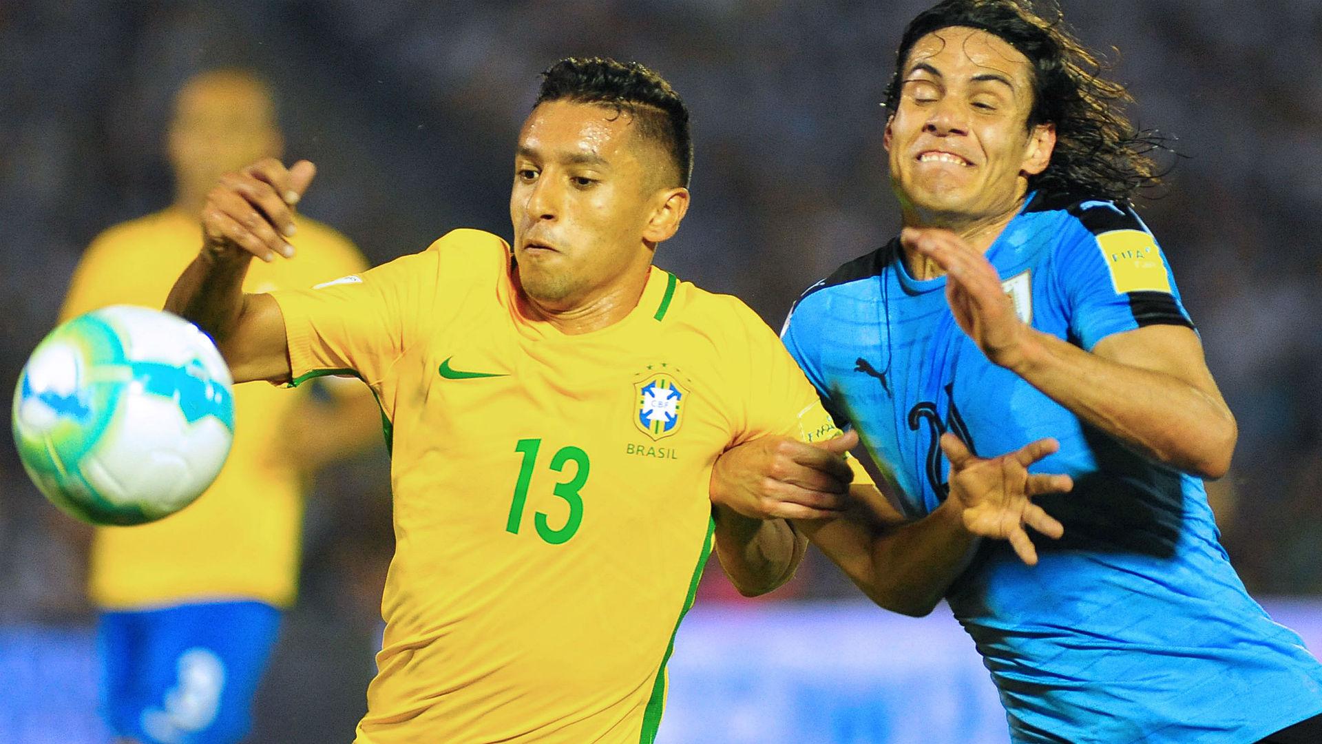 Marquinhos Edinson Cavani Uruguay vs. Brazil