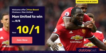 dabblebet Manchester United FA Cup final offer HP