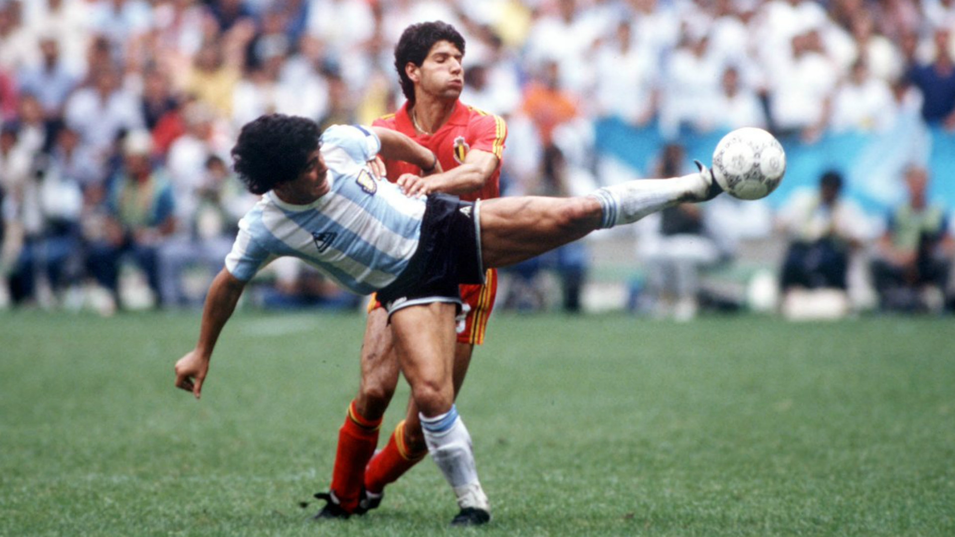 Diego Maradona Enzo Scifo Copa del Mundo 1986