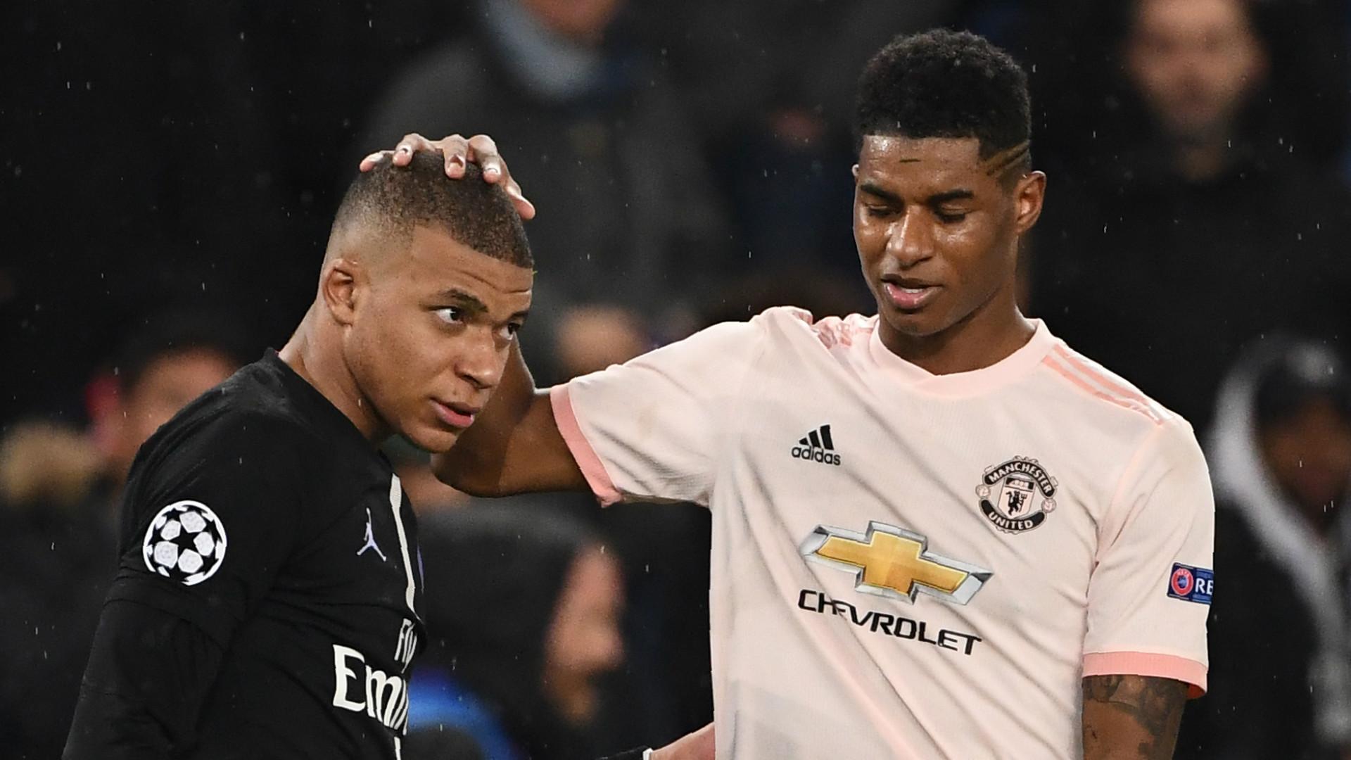 Marcus Rashford Kylian Mbappe Manchester United PSG Paris Saint-Germain 2018-19