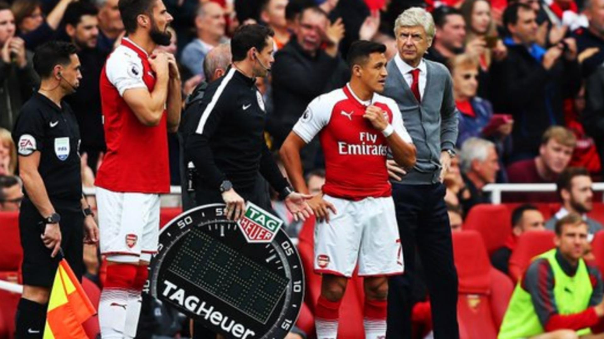 090917 Arsenal Bournemouth Arsene Wenger Alexis Sánchez Olivier Giroud