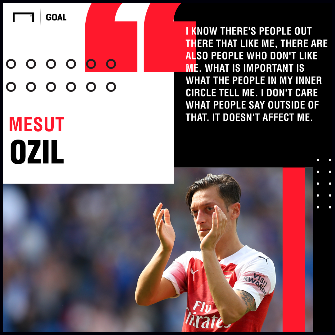 Mesut Ozil Arsenal don't care about critics