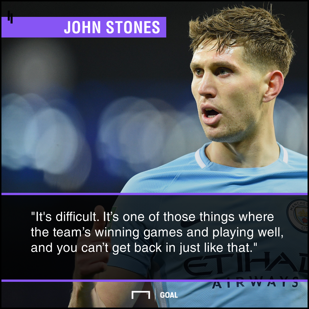 John Stones difficult time