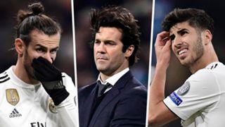 Gareth Bale Santiago Solari Marco Asensio Real Madrid 2018