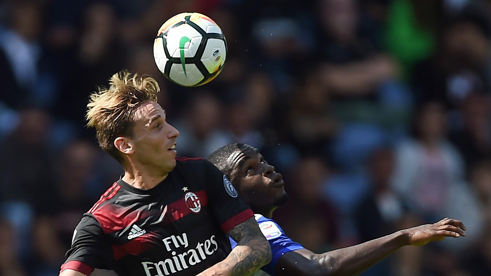 Lucas Biglia, Duvan Zapata, Sampdoria, Milan, Serie A, 24092017