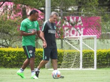 Camilo Zuñiga trainning with Atletico Nacional 2017