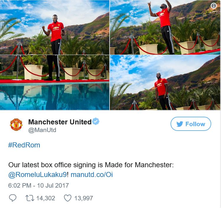 Lukaku Manchester United Tweet