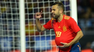Jordi Alba Spain Costa Rica Friendly