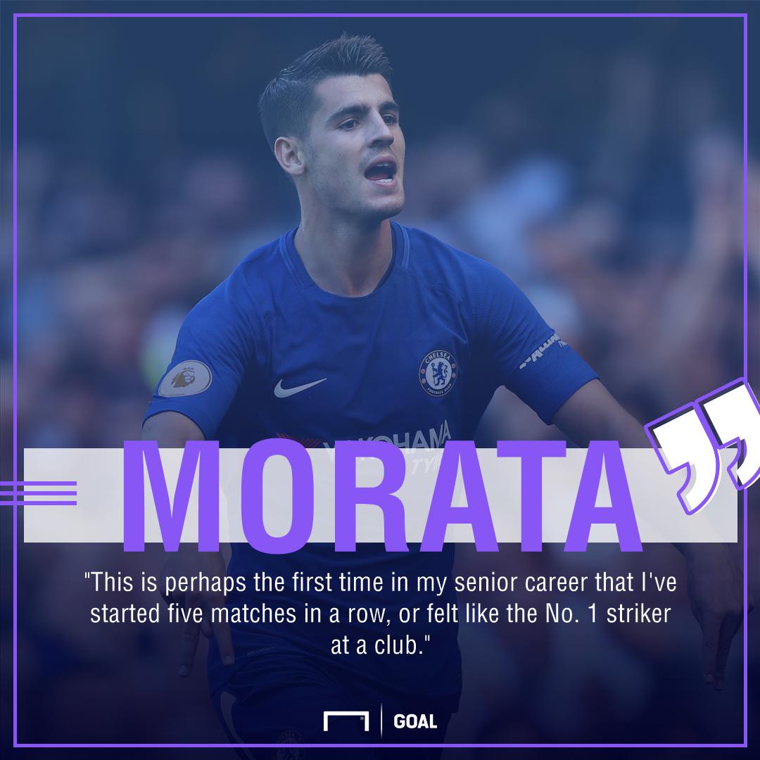 Alvaro Morata Chelsea No. 1 striker