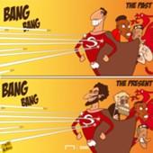 Cartoon Suarez and Salah