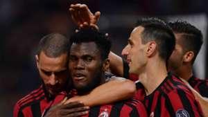 Franck Kessie Milan celebrating Serie A 09202017