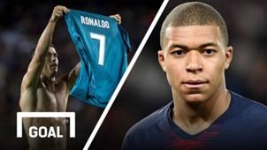 Kylian Mbappe Cristiano Ronaldo split GFX