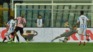 Robert Muric scoring Pescara Palermo Serie A 22052017