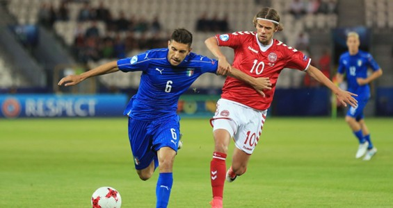 Lorenzo Pellegrini Lucas Andersen Denmark Italy UEFA U21 Championship