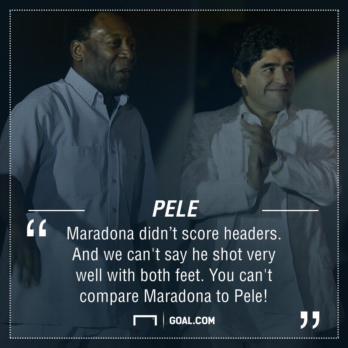 Pele Maradona quote