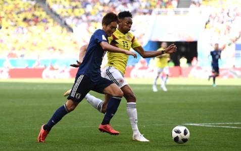 Genki Haraguchi, Johan Mojica, Japan vs Colombia