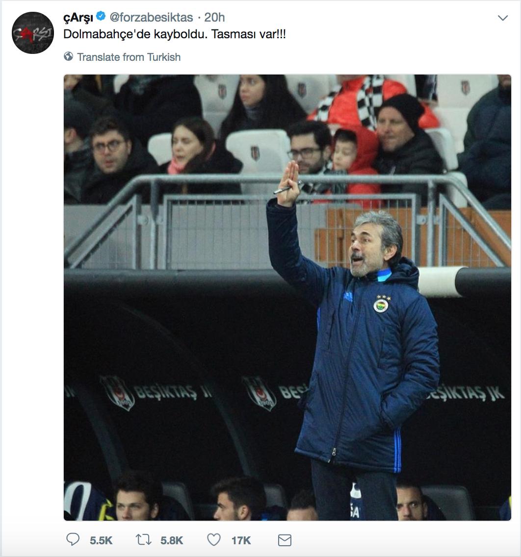 Çarşı Aykut Kocaman tweeti