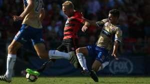 Mitch Nichols Steven Ugarkovic Western Sydney Wanderers v Newcastle Jets A-League 22012017