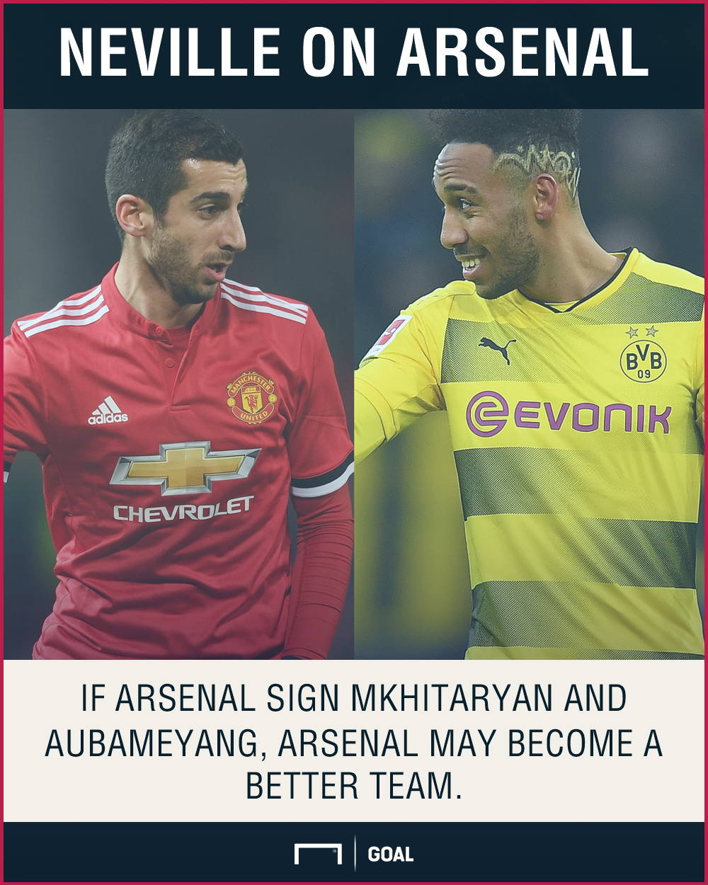 Arsenal better Mkihitaryan Aubameyang Phil Neville