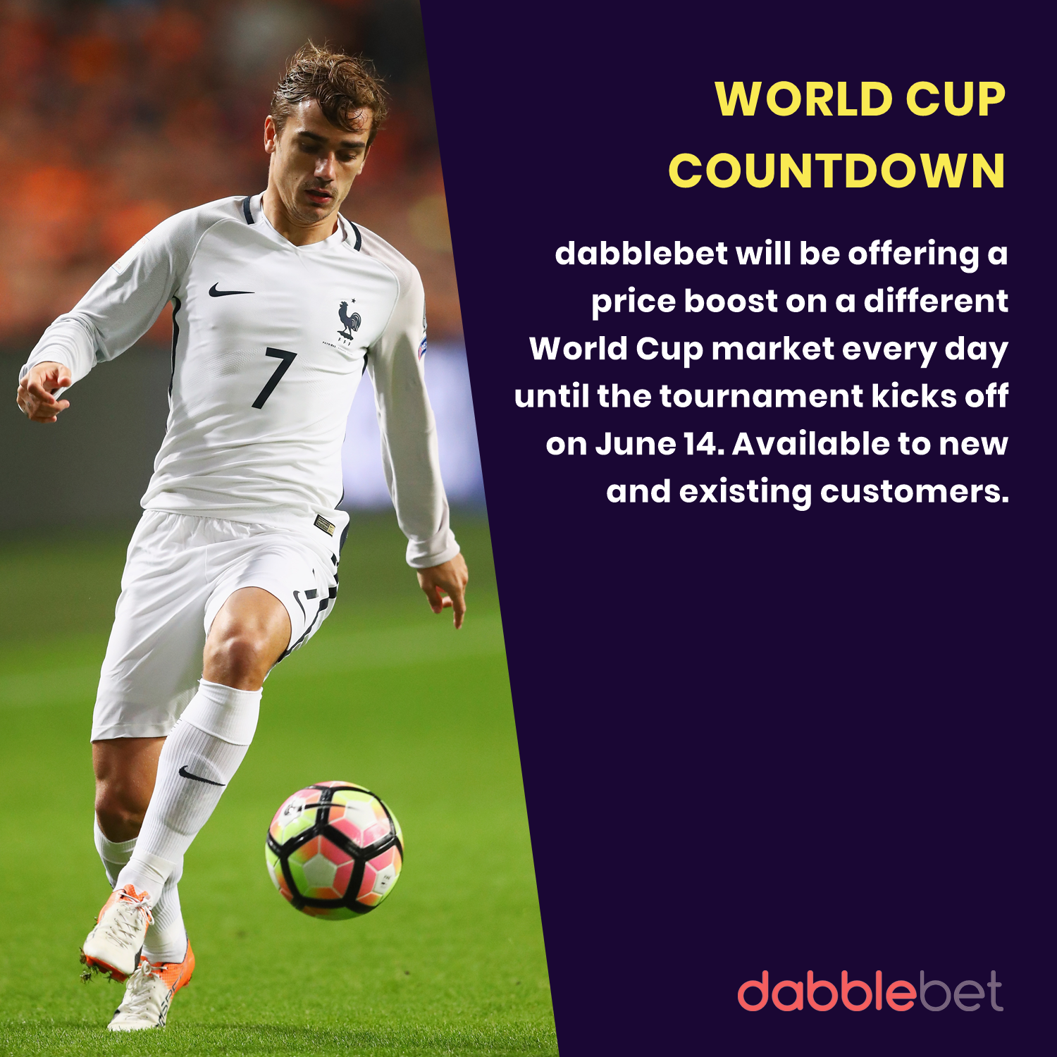 World Cup Countdown at dabblebet