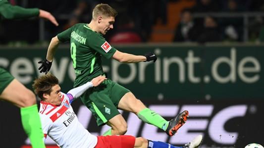 Aron Johannsson Gotoku Sakai Werder Bremen Hamburg