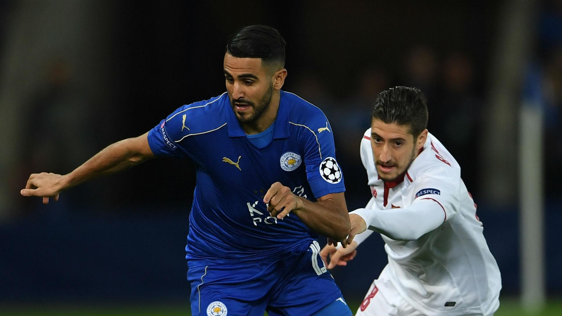 Riyad Mahrez Leicester Sergio Escudero Sevilla