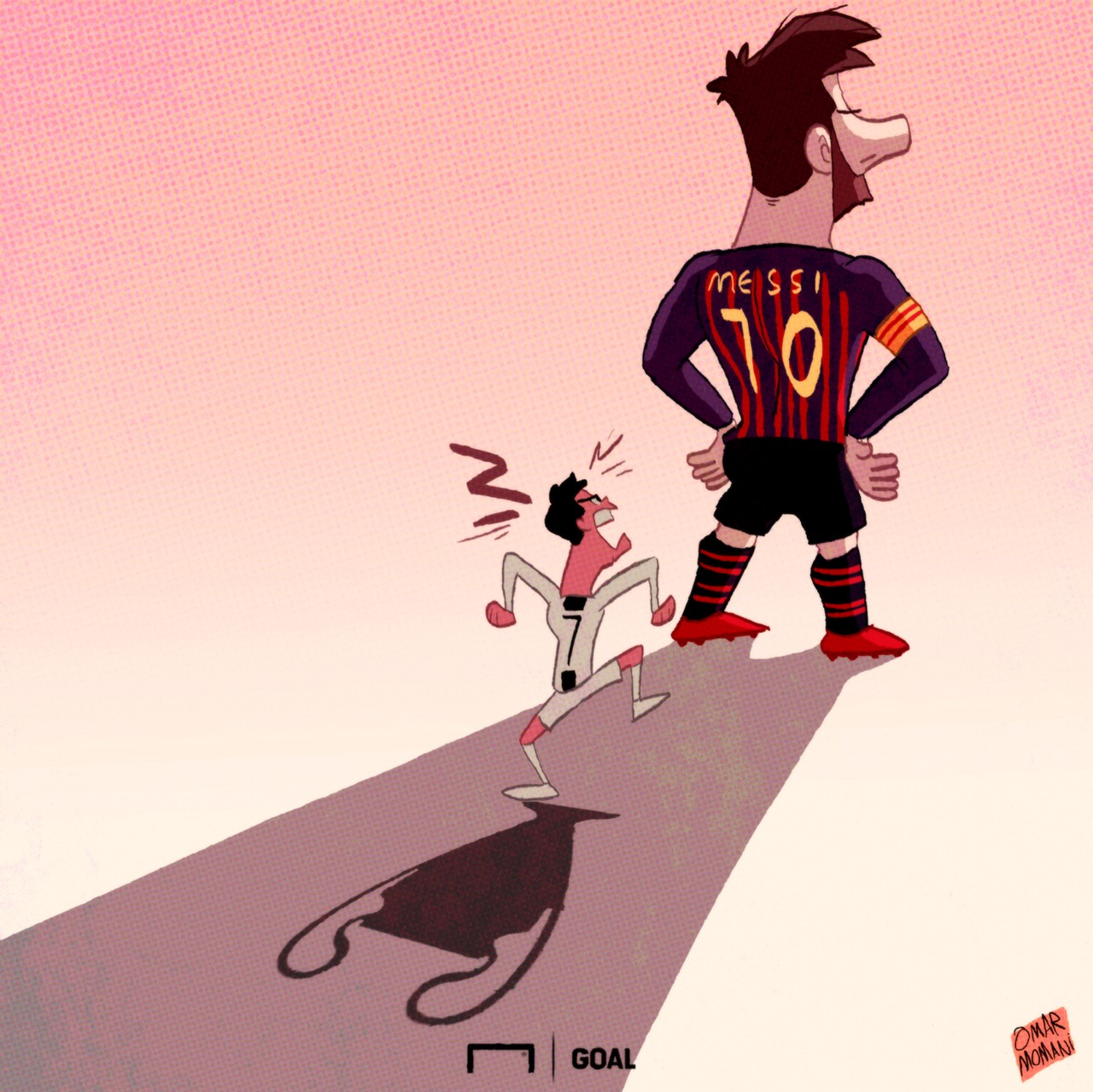 Lionel Messi Cristiano Ronaldo Cartoon