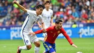 Kim Kee-hee Alvaro Morata Spain South Korea 06012016