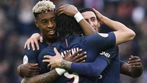 Edinson Cavani Angel Di Maria Presenl Kimpembe PSG Montpellier Ligue 1 22042017