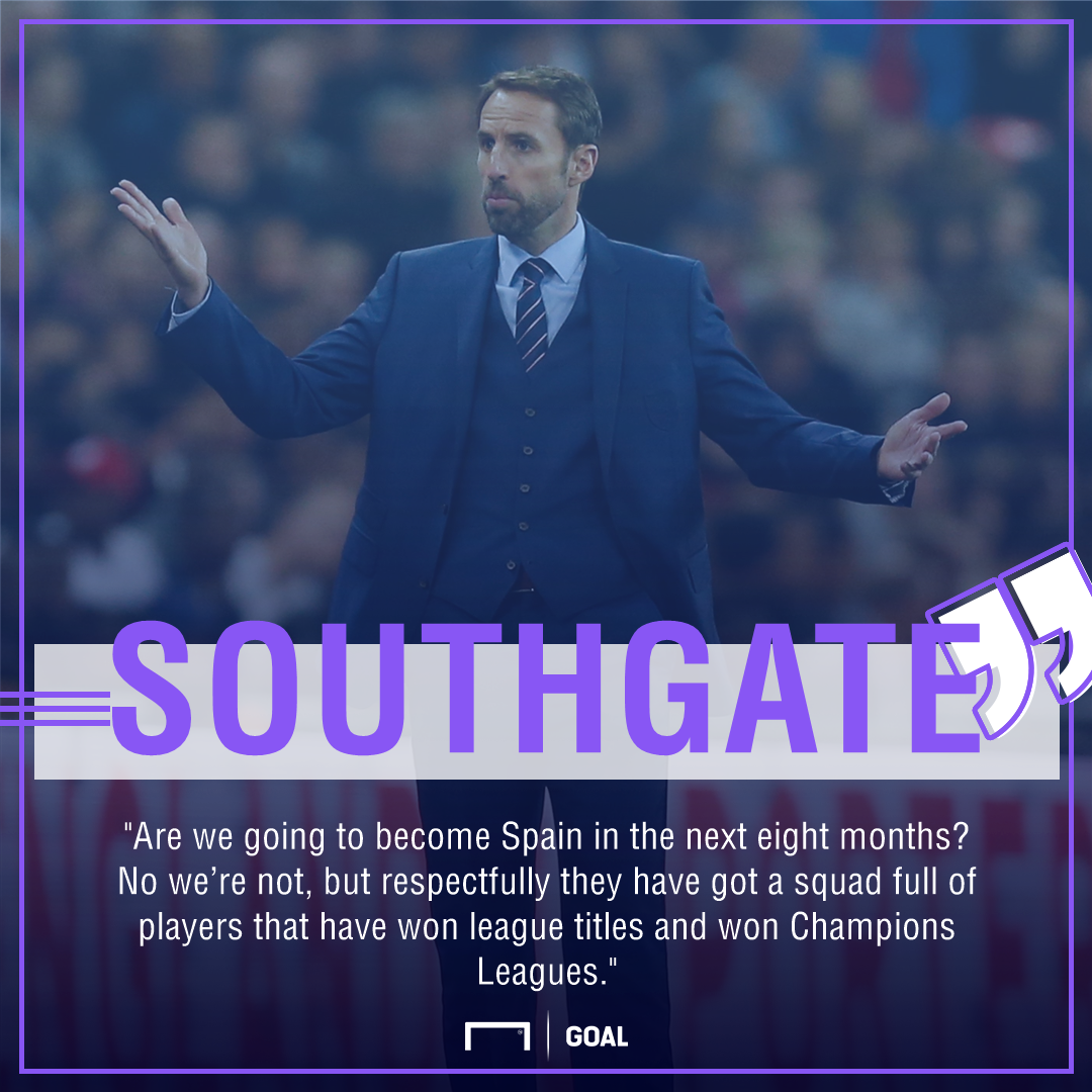 Gareth Southgate England not Spain